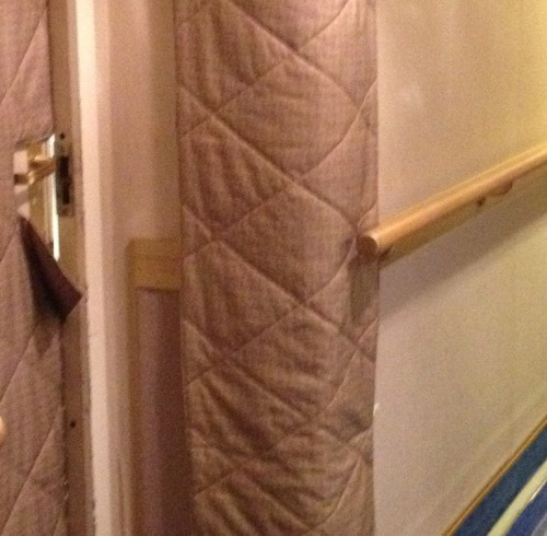 The door is ajar.