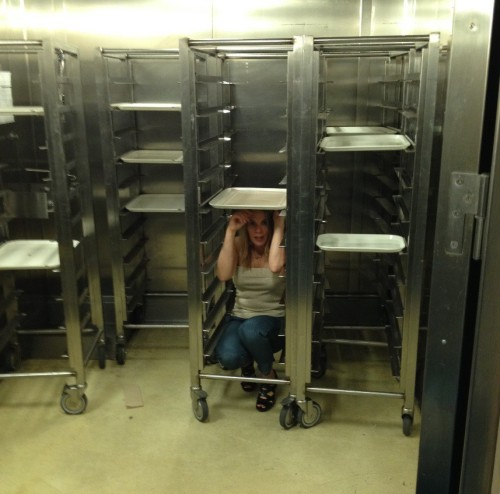 I can fit in a tray rack.